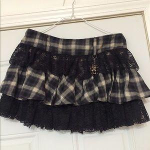Forever 21 twist goth skirt